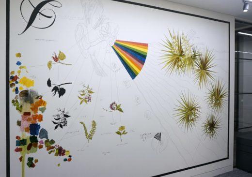 Matt Collier Artist mural artwork drawing, painting in Universal Records London