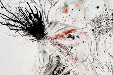Matt Collier Artist A5 artwork drawing, oil pastel. Anatomical & botanical influences